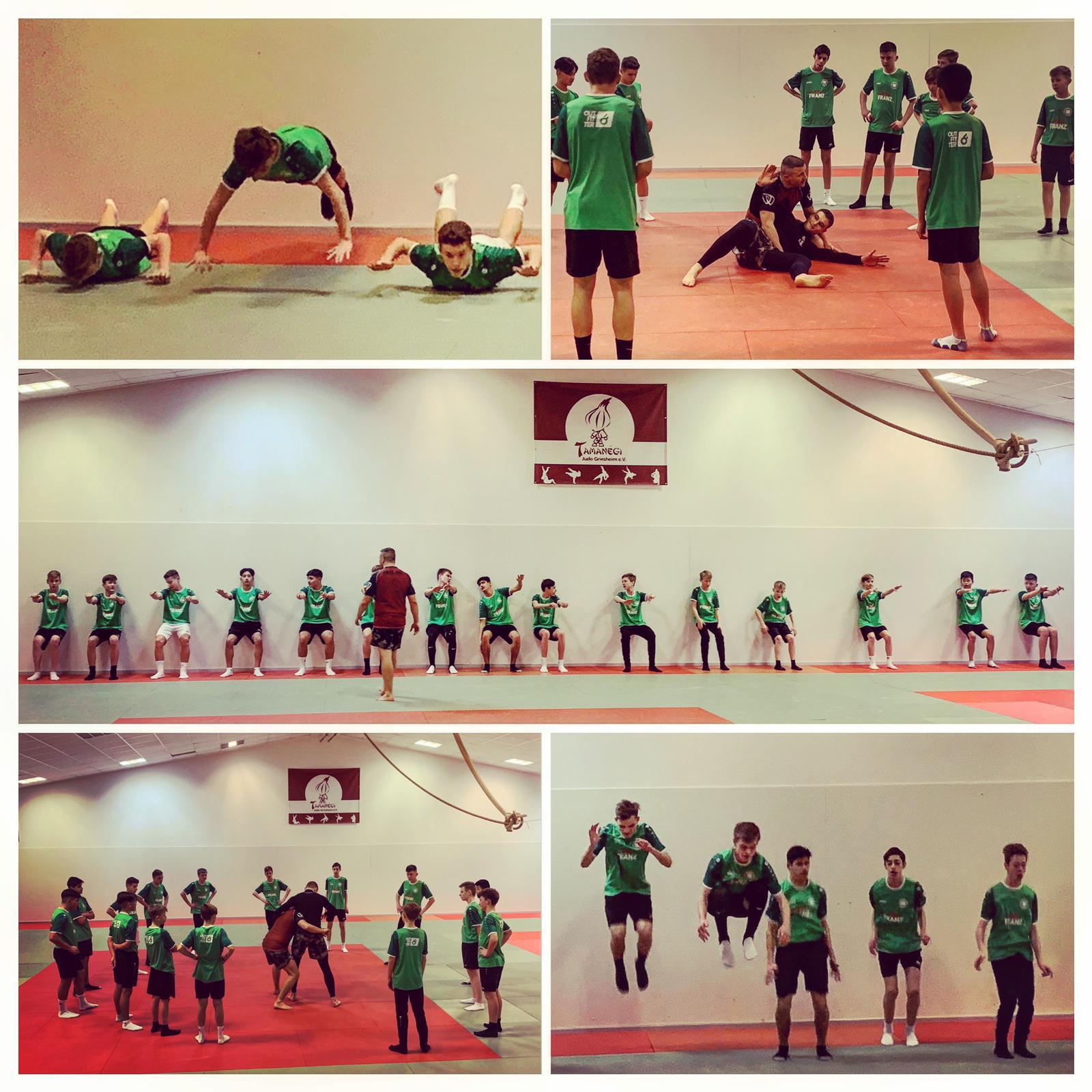 Fußballer trainieren beim Tamanégi
